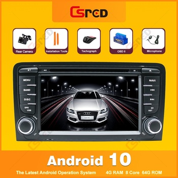 Csred Android 10 Auto Radio For Audi A3 S3 8P RS3 8P1 Sportback Multimedia Player GPS Navigation DVD Player Stereo Head Unit image