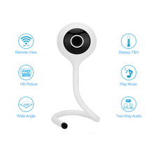 wdskivi Detect Temperature And Humidity 1080P Mini IP Camera Wireless WiFi Camera Security Surveillance CCTV Camera Baby Monitor
