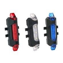 Luz trasera LED para bicicleta, 4 modos, luz de bicicleta recargable por USB, luz de seguridad trasera, luces Flash súper brillantes TSLM2