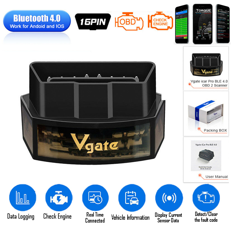 Vgate ICar Pro Bluetooth 4 0 WiFi OBD2 Scanner Elm327 Diagnostic Tool OBD Code Reader for Andriod IOS Elm 327 Automotive Scanner