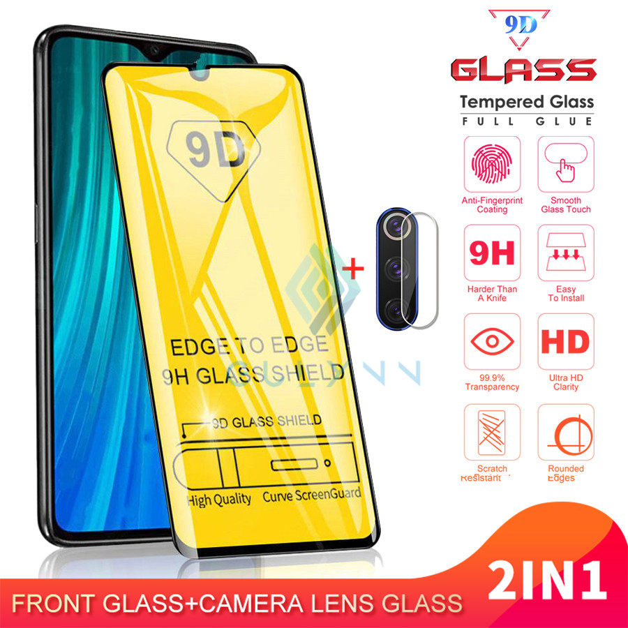 2 in 1 <font><b>9D</b></font> Screen Protector On Note 8 7 6 <font><b>4X</b></font> Pro T Protective Tempered Safety Glass For <font><b>Xiaomi</b></font> <font><b>Redmi</b></font> Note 8 Note8 Pro Front Glass image