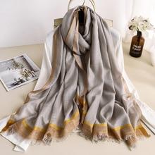 2019 Women Cashmere Scarf Cachecol Pashmina Foulard Femme Shawls Scarves Luxury Brand Poncho Echarpe Scarfs Bandana Hijab Cape