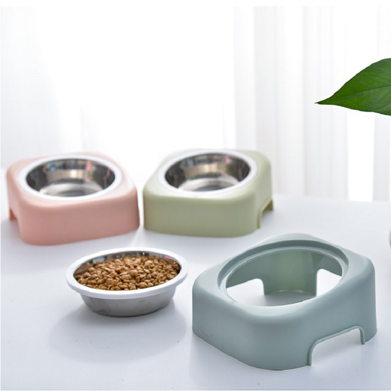 Petshy Eco-friendly Cat Dog Bowl Pet Food Water Feeder Cats Water Fountain Puppy Drinker Bowl Stainless Steel Dog Feeding Bowls