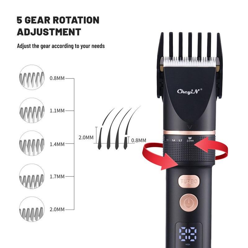Ckeyin profissional aparador de tosquiadeira cabelo barbeiro