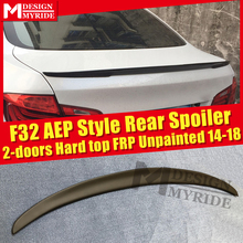 For BMW F32 Spoiler FRP Tail Wing Unpainted 4-Series 420i 428i 430i 435i 2-Door Hard Top AEP Style Black 2014-18