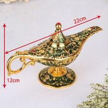 Aladdin desejando lâmpada estilo europeu antigo requintado artesanato decoração adereços criativos presente royal azul/verde/roxo