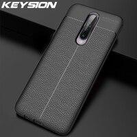 Funda a prueba de golpes KEYSION para Xiaomi Redmi K30, funda de silicona con textura de cuero Ltchi para Redmi K30 5G K20 Note 8 Pro 8T 8 8A