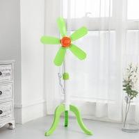 Piso de folha macia tipo ventilador elétrico retrátil cinco folhas pequeno tipo vertical tripé ventilador de assoalho doméstico|Vent.| |  -