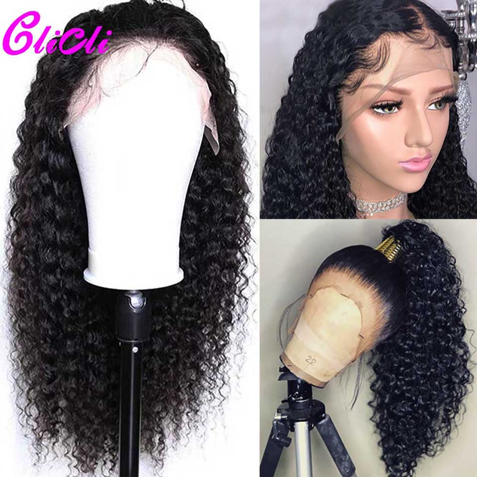 13x6 Curly Lace Front Human Hair Wigs For Black Women 360 Transparent Lace Frontal Wigs Brazilian Hair Pre Plucked Remy 150%