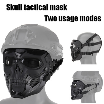 Tactical Skull Headwear Mask Outdoor Hunting Airsoft Paintball  Shoot Mask Security Breathable Cool CS Equipment Skull Full Mask