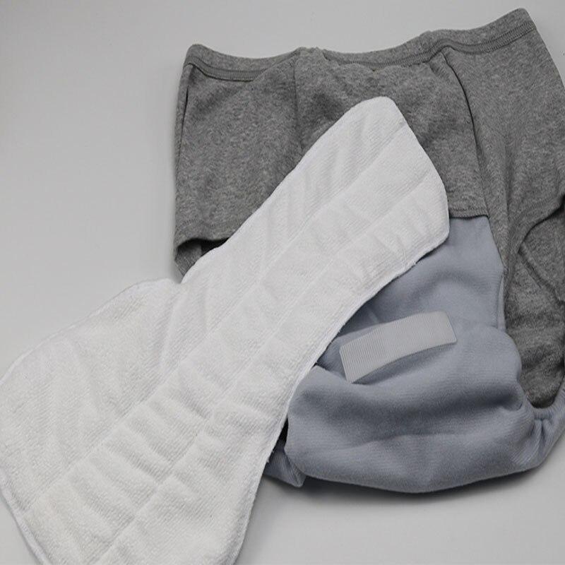 Тканевые подгузники для взрослых, для мужчин и женщин, можно стирать старую мочу, не мочить подгузники, брюки, непромокаемые хлопковые подгузники со вставками
