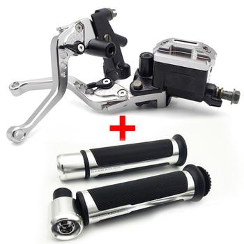 Motorcycle Break Clutch Lever&Handlebar Grip Accessories For KAWASAKI zephyr 750 vulcan 800 er5 vn900 z650 kle 500 zzr 600 er6n