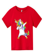 Summer short sleeve printing Fashion Unisex Unicorn T-shirt Children Boys Short Sleeves Tees Baby Kids Cotton Tops For Girls top