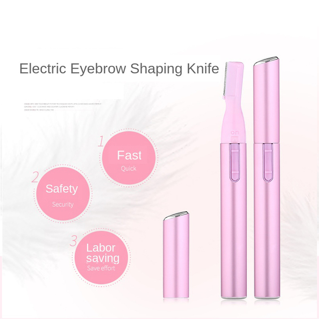 Electric Eyebrow Razor Mini Hair Epilator Eye Beauty Shaver Painless Eyebrows Remove Knife Women Cosmetic Shaper Face Trim Tool 1