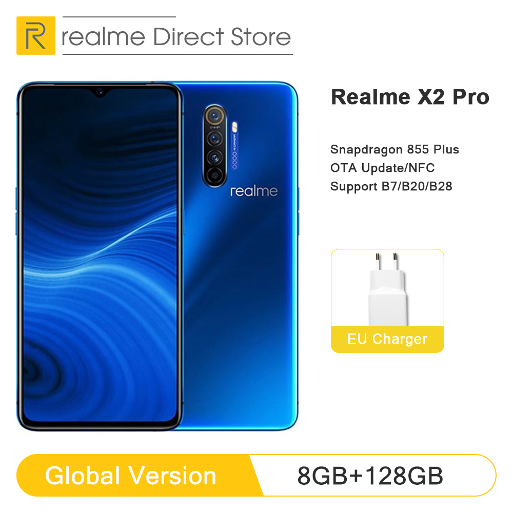 Global Version realme X2 Pro 8GB RAM 128GB ROM Mobile Phone Snapdragon 855 Plus 64MP Quad Camera NFC Cellphone 50W Fast charger(China)