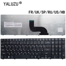 Clavier d'ordinateur portable US/UK/SP/RU/FR/HB pour Acer Aspire 7738 5538 5741 p5we 7551 5749 5750 5560G 5560G 5552G 7741G 7741Z 7745G