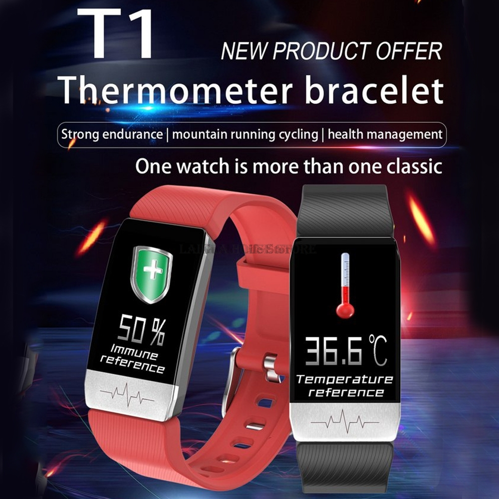 Fitness Bracelet Body Temperature Heart Rate Blood Pressure Monitor Activity Tracker Smart Watch Men Women Clock For Android IOS