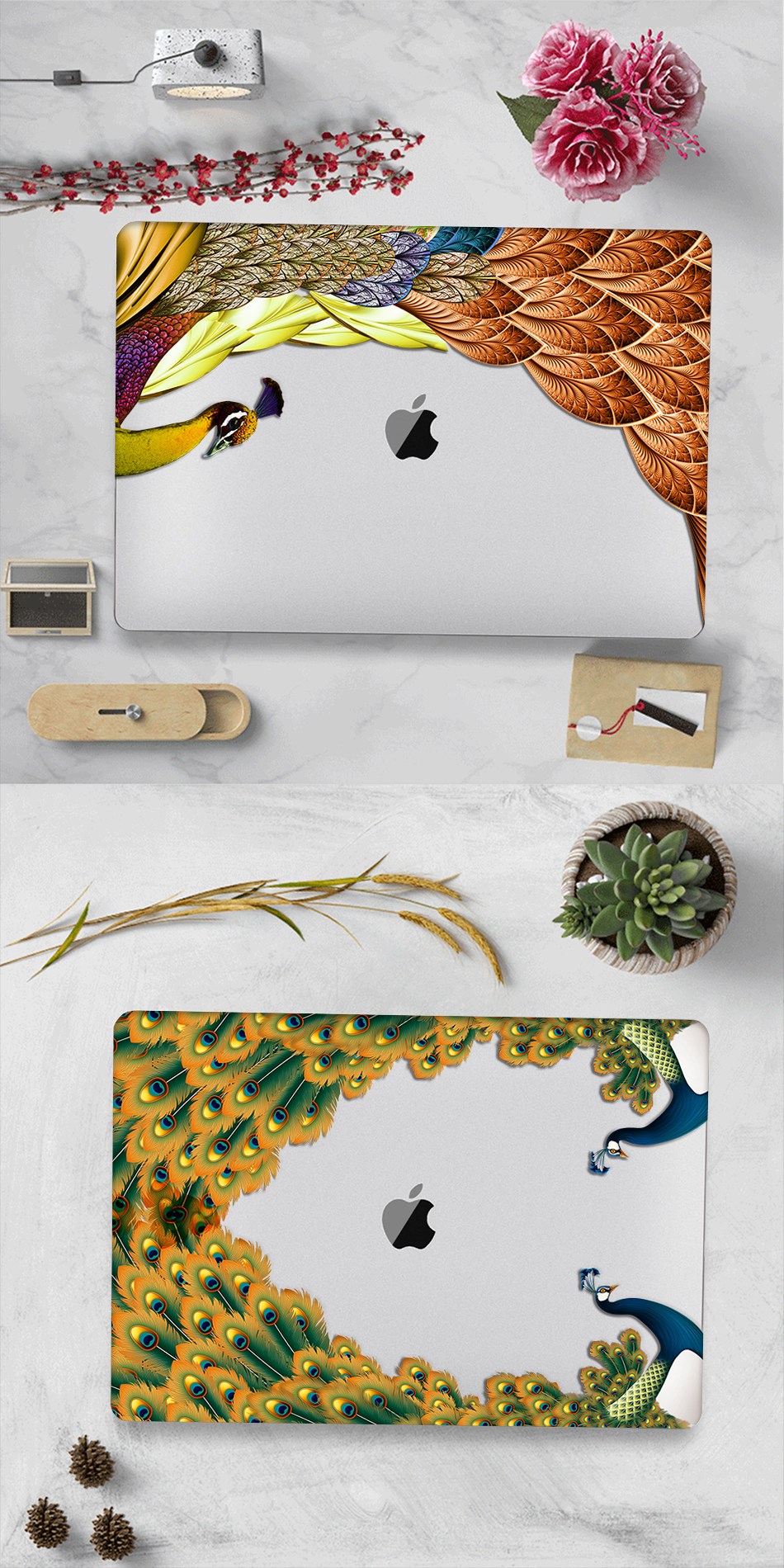 Crystal Feather Hard Colored Case for MacBook 24