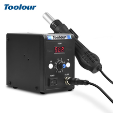 Toolour 700W 220V/110V 858D BGA  LED Digital Display Soldering Rework Station Heat Air Gun Desoldering Pump Nozzle Welding Tools