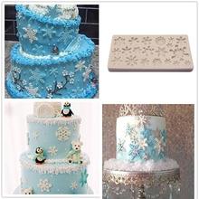 Christmas Snowflake Fondant Cake Mold Cake Decorating Tools Silicone Molds For Baking Baking Mould Sugarcraft Baking Pastry Tool