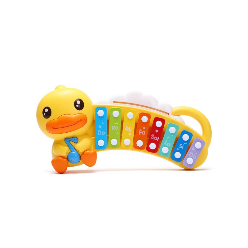 B. Duck Small Yellow Duck Infants Hand Knock Music Piano 0-1 Years Old Baby Educational Toy Music Toy