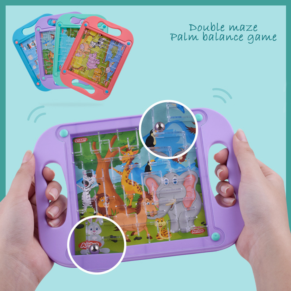 Mini Pinball Desktop Games Machine Cartoon Children Gifts Puzzle Toy Kids Party Game Props Family Activity Game Random Color