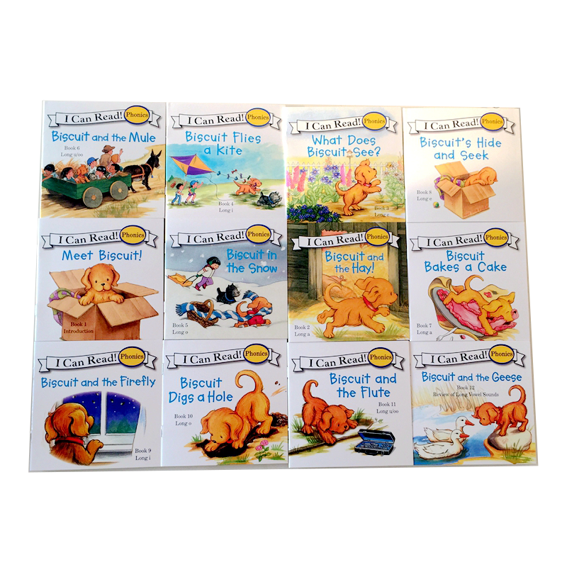 Biscuit Series Phonics English Picture Books I Can Read Children Story Book Early Educaction Pocket Reading Book 24 Books/set