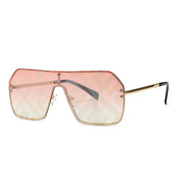 Jednoczęściowe okulary przeciwsłoneczne damskie moda na wszystkie mecze kwadratowe okulary szeroka ramka powłoka lustrzana obiektyw UV400 okulary polaryzacyjne tanie i dobre opinie Anti-glare Polaryzacja Anti-Fog Anty-uv Pyłoszczelna Ochrona przed promieniowaniem