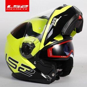 Image 2 - Original LS2 FF325 flip up motorrad helm doppel linse sonnenbrillen schild ls2 strobe volle gesicht helme