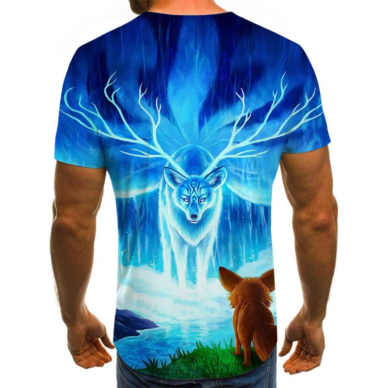 Hot 2020 Summer Men's Short Sleeve T-Shirt O-Neck Fashion Short Sleeve Clothing Anime Pattern 3D Printed T-Shirt Large Top Tee M