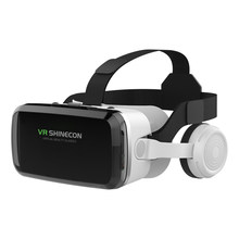 Originele Vr Virtual Reality 3D Glazen Doos Stereo Vr Google Kartonnen Headset Helm Voor Ios Android Smartphone,Bluetooth Rocker(China)
