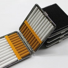 1PC Leather Metal Smoking Cigarette Case 20 Cigaret