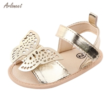 ARLONEET 2020 Summer Cute Baby Girls Butterfly Sandals Kids Toddler Infant Girls Shoes for Baby Girls Beach Sandals Girls cheap Rubber Soft Leather Flat Heels Hook Loop Cotton Fabric Fits true to size take your normal size 0-1M NONE Gladiator Unisex