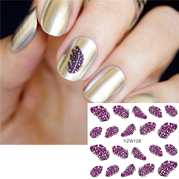 Manicure Watermarking Adhesive Paper Phototherapy Flower Stickers 3D Nail Sticker Beautiful Nail Sticker Flower Jewelry