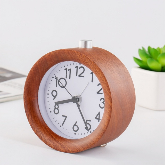 Wooden Alarm Clock with Night Light