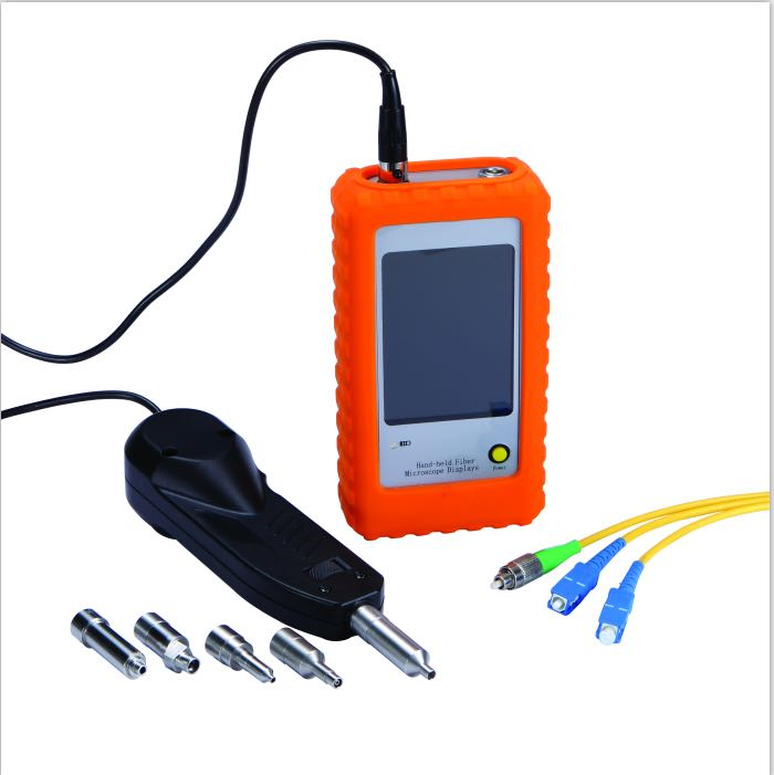 Fiber Optic MicroScope Connector Inspection Video optical fiber Inspection Probe and Display
