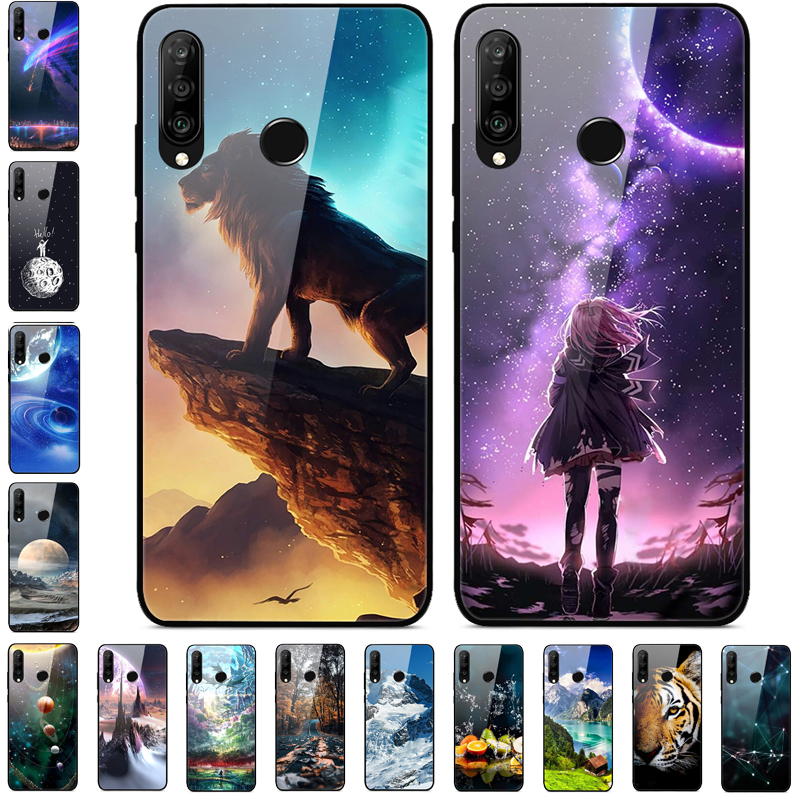 For Huawei Honor 9X STK-LX1 Case Tempered Glass Back Hard Phone Cover Cases For Huawei Honor 9X Premium Case Bumper Global