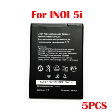 Original 5PCS 2850mAh inoi 5i Battery For INOI 5I Lite INOI5 Lite Phone In Stock New Production High Quality Battery смартфон inoi 1 lite gold