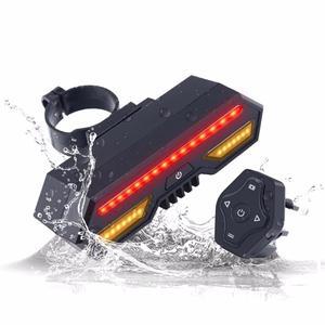 Новинка, велосипедный светильник с поворотным сигналом, водонепроницаемый, перезаряжаемый через USB, ультра яркий задний светильник для вел...