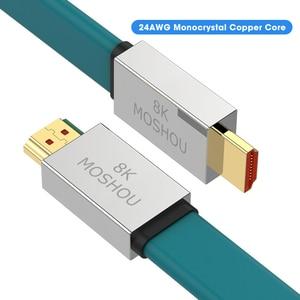 Image 1 - Hdmi互換2.1ケーブル8 18k @ 60hz 4 18k @ 120 60hz 48 5gbpsアークビデオコードアンプテレビ