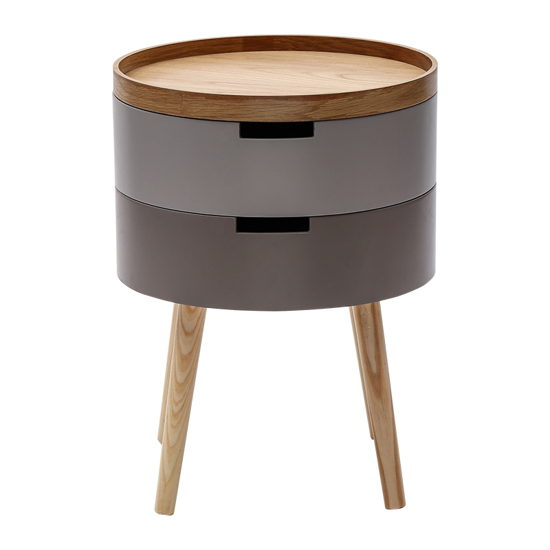 Nordic Small Coffee Table Simple, Small Round Side Table With Drawer