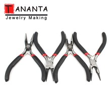 1Pcs Mini Pliers Insulated Cutter Clamping Stripping Wire Crimping Cable Cutters Round Long Nose Pliers For Jewelry Making Tools original japan keiba vise p 108 200mm 8 inch electrical flat nose locking pliers for cutting crimping clamping tools