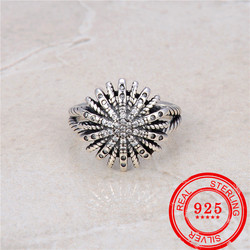 Korean style 100% 925 sterling silver ring retro style Thai style silver ring wedding gift fashion sterling silver jewelry