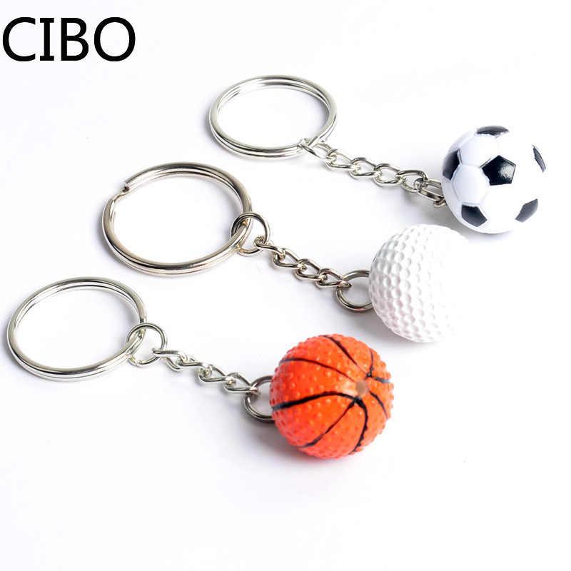 2019 nova corrente chave de golfe futebol basquete tênis chaveiro chaveiro futebol beisebol chaveiro llaveros hombre esportes lembrança presente