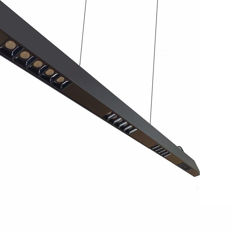 Modern Life 40W 50W 4ft Suspended LED Linear Light, Suspension Lighting Fixture, Anti-Glare Lens, 0-10V Dimmable