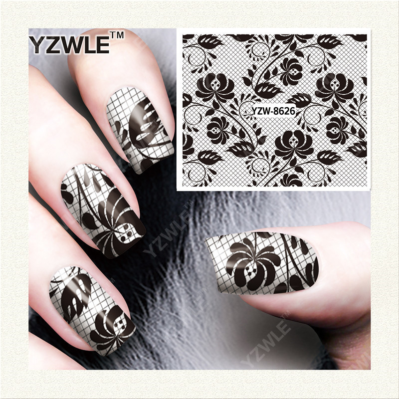 Yzw Nail Sticker Hot Selling Nail Ornament South Korea Manicure Stickers Exquisite Fashion Watermark Nail Sticker YZW8626