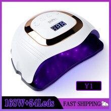 일 LED UV 램프 120W/180W/168W 네일 램프 전문 빠른 건조 네일 젤 건조기 램프 모든 젤 자동 매니큐어 램프