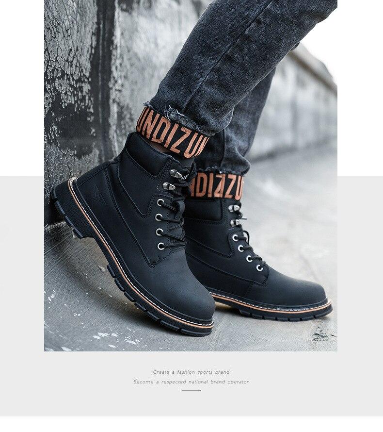 qualidade na moda botas curtas masculinas sapatos