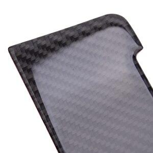 Image 3 - Schwarz Carbon Faser 2 stücke Center Konsole Getriebe Shift Panel Aufkleber Abdeckung Trim Fit für Audi A4L A5 Q5 2009 2012 2013 2014 2015 2016