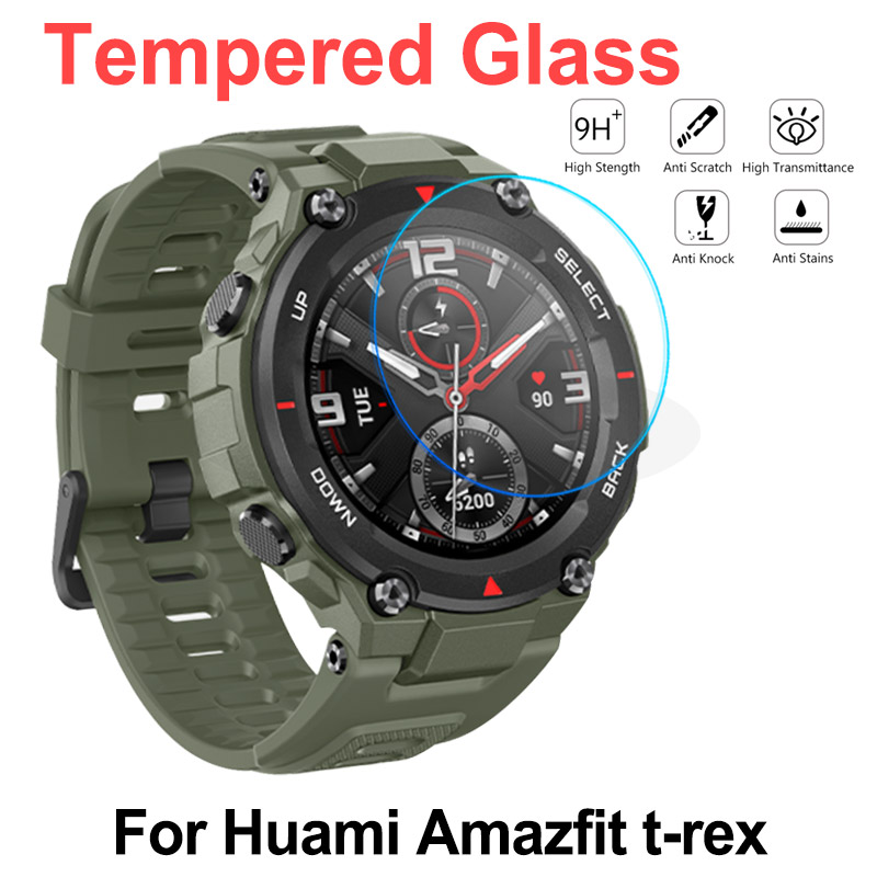 New 2020 Tempered Glass For Huami Amazfit T-Rex Smart Watch Accessories 9H Protective Screen Protector For Amazfit T Rex